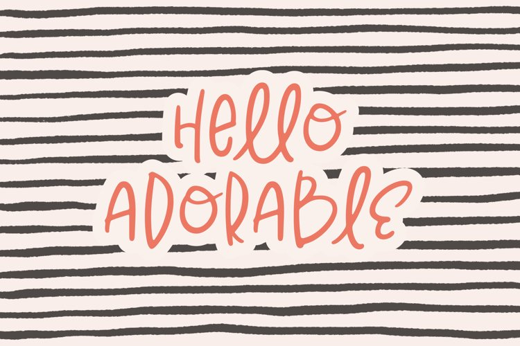 Hello Adorable | Handwritten Cute & Quirky Sans | Webfont
