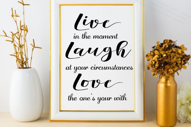Live Love Laugh SVG,Home Sign SVG,Rustic Home Sign, Instant example image 1