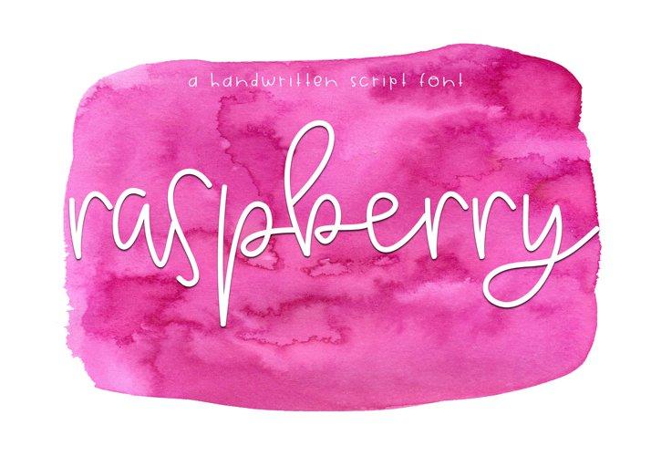 Raspberry - A Handwritten Script Font example image 1