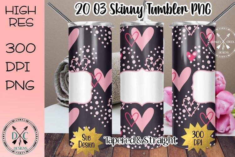 20 oz Skinny Tumbler Full Wrap Sublimation - Valentine's example image 1