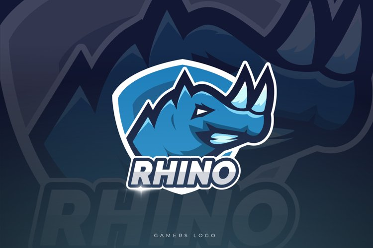 Rhino Mascot And Esport Logo example image 1