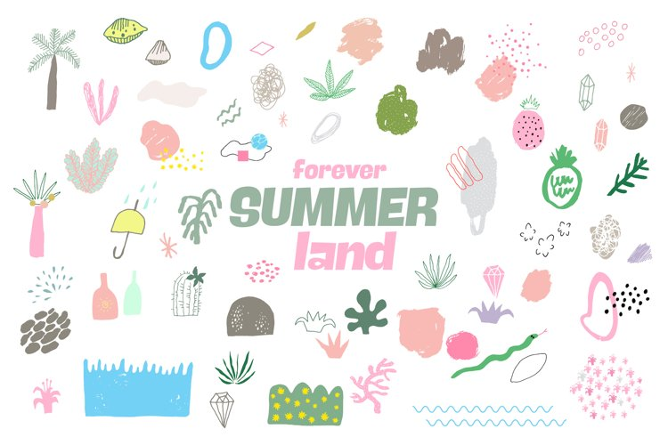 Forever Summer Land Abstract Design example image 1