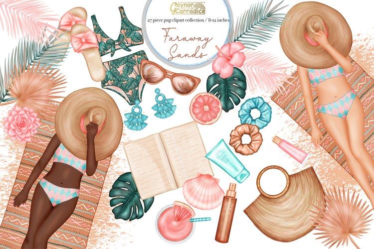 Faraway sands - modern summer planner clipart collection