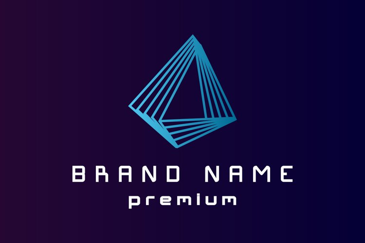 Triangle business logo template example image 1
