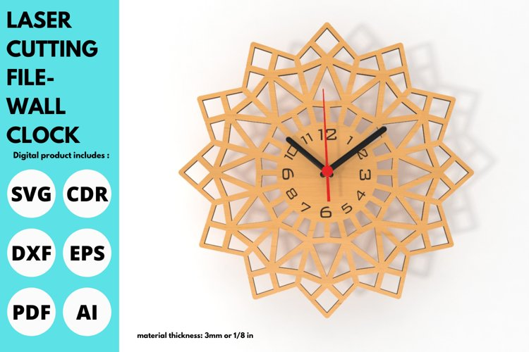 Wall Clock - SVG - Laser cutting File