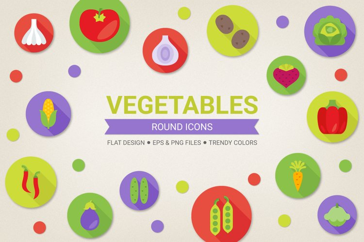 Round Vegetables Icons