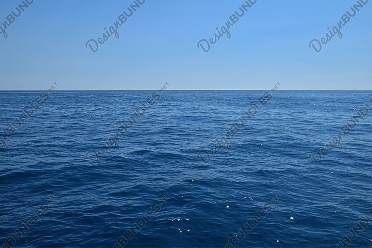 Tranquil Scene of Blue Sea Water, Horizon and Sky example image 1