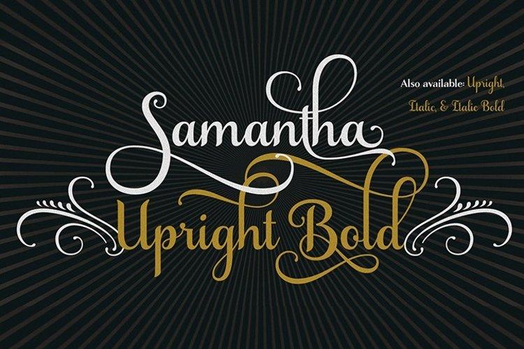 Samantha Script Upright Bold example image 1