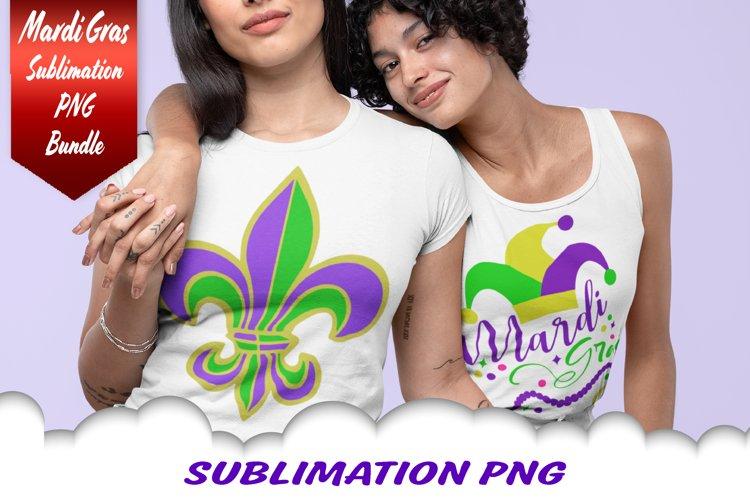 Mardi Gras Jester Fleur De Lis Beads Sublimation PNG Bundle
