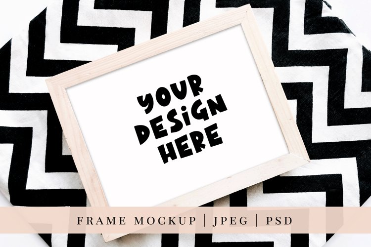 Frame Mockup, JPEG and PSD smart object