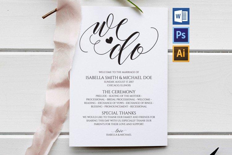 wedding program, TOS_44