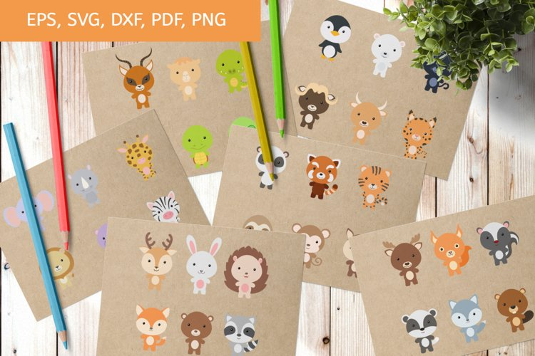 Bundle Baby Animal Clipart SVG, Cutting Files, Printable example image 1