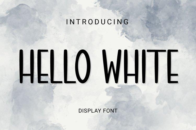 Hello White example image 1