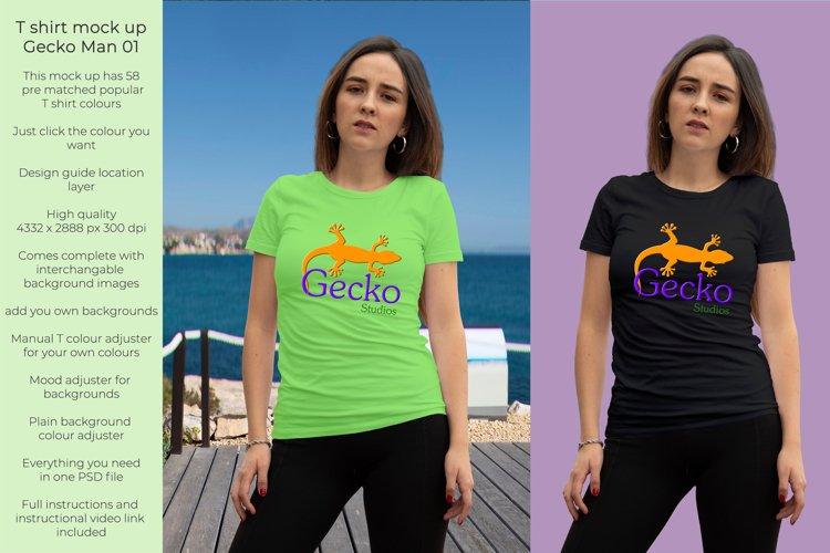Gecko Girl 1T shirt mock up