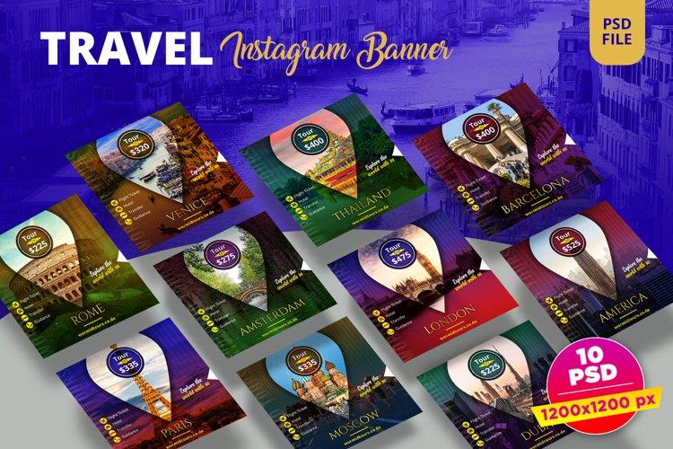 Travel Instagram Banner Pack example image 1