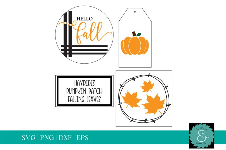 Tiered Tray SVG, Glowforge SVG, Fall SVG, Fall Bundle example image 1