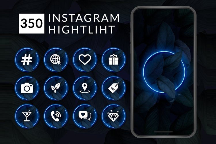 Highlight Instagram   Icons Story   Instagram icons example image 1
