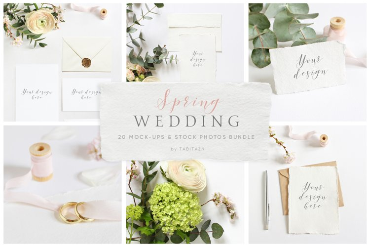 Spring Wedding mockups    stock photo bundle