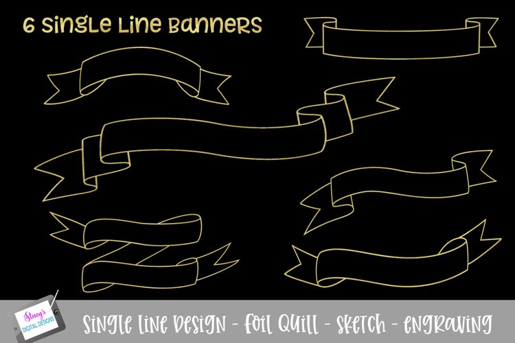 Foil Quill - Single Line Banner Bundle - 6 banners