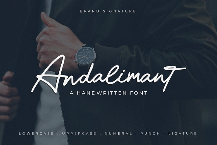 Andalimant - Handwritten Font example image 1