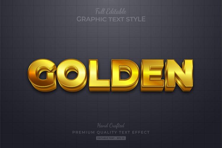Golden Editable Text Style Effect Premium example image 1