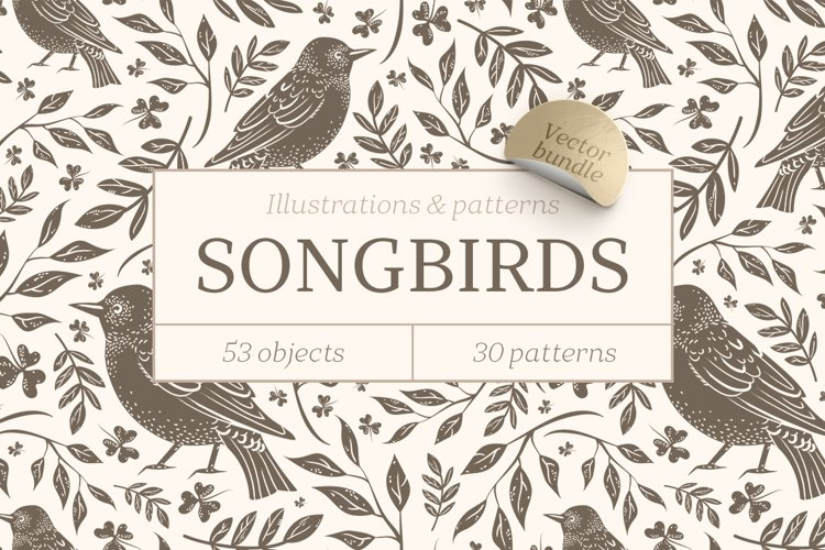 Songbirds graphic collection example image 1