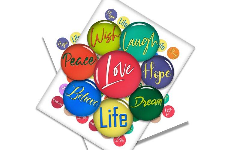 HOPE, LOVE, FAITH, Life, Believe, Dream, Wish, Hug,Happiness example image 1
