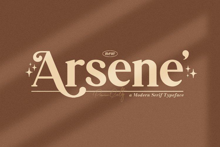 Arsene Modern Serif Typeface example image 1