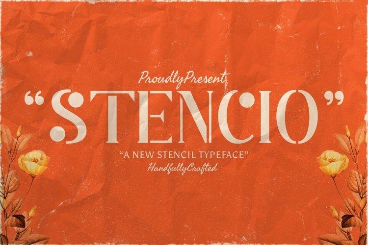 Web Font Stencio example image 1