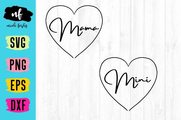 Mama and Mini SVG Cut File