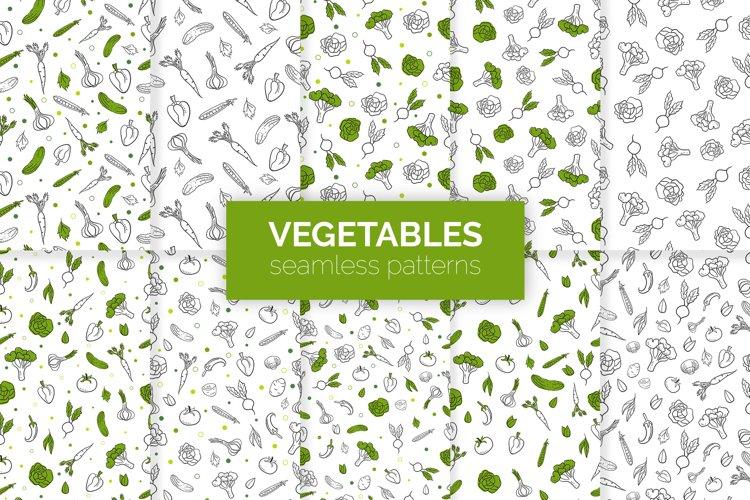 Vegetables Seamless Patterns