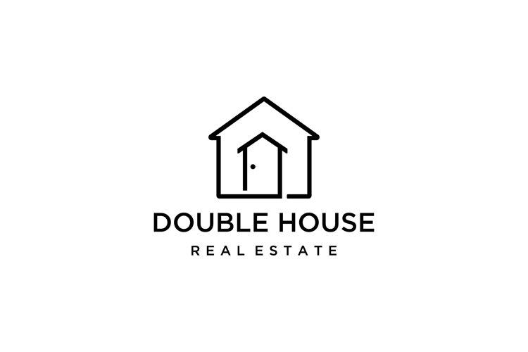 Double house Logo example image 1