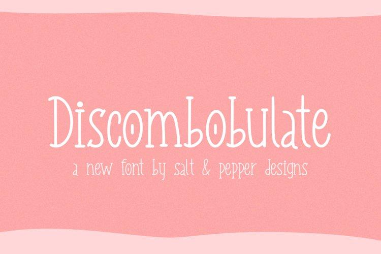Discombobulate Font example image 1