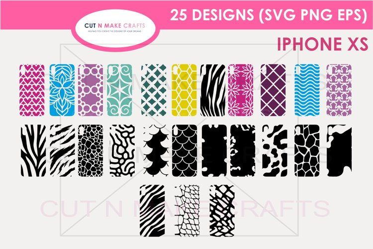 25 iPhone XS SVG Designs| Phone Case Decals example image 1
