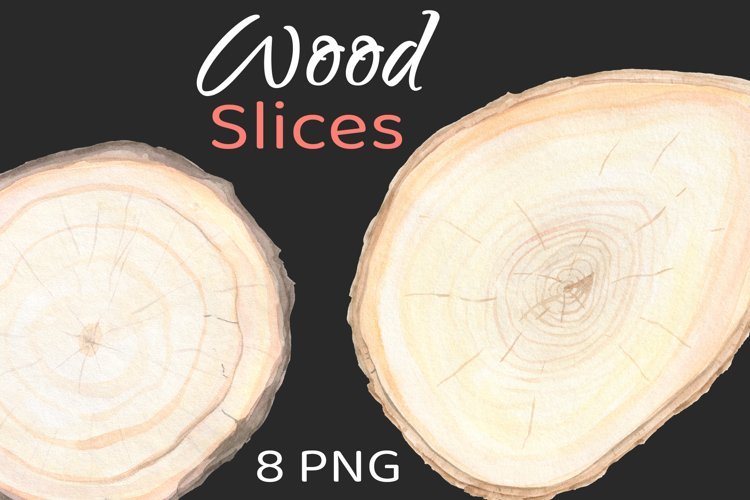 Wood Frame Slice Clipart Background example image 1