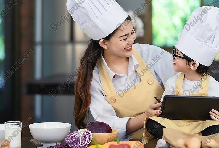 happy family day in kitchen room example image 1