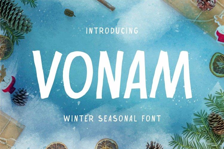 Web Font Vonam Font example image 1