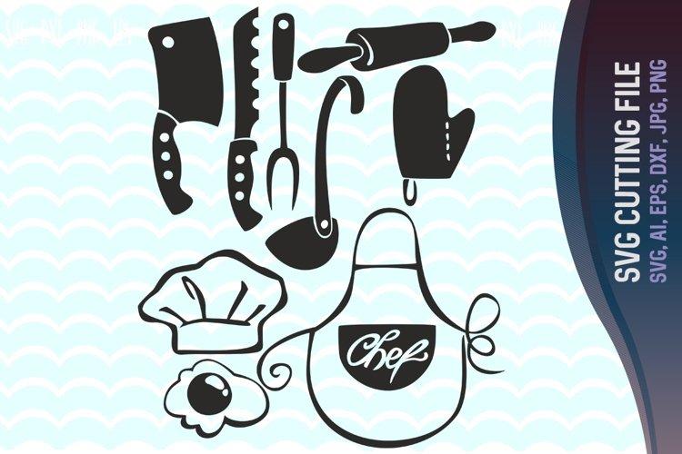 Kitchen Svg, Kitchen clipart, Kitchen vector, Cooking clipart, Cook digital clipart files, cutting files, Vector Kitchen Bundle, Silhouette, Cricut.