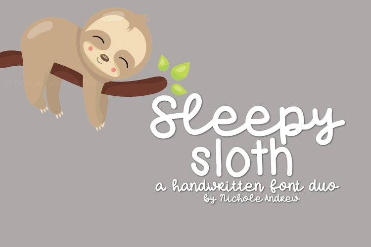 Sleepy Sloth, Handwritten Font Duo - Free Font of The Week Font