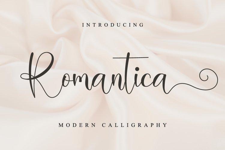 Romantica Script example image 1