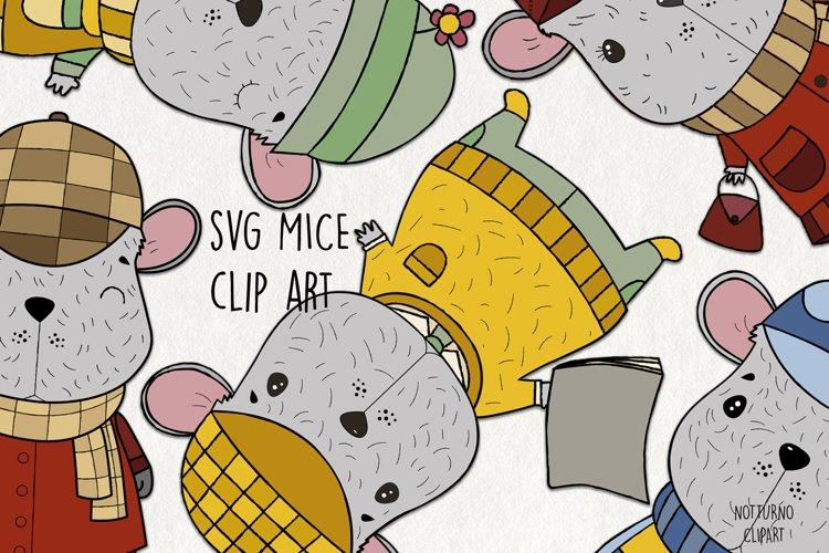 SVG Mouse Clipart. Cute Mice Clip Art