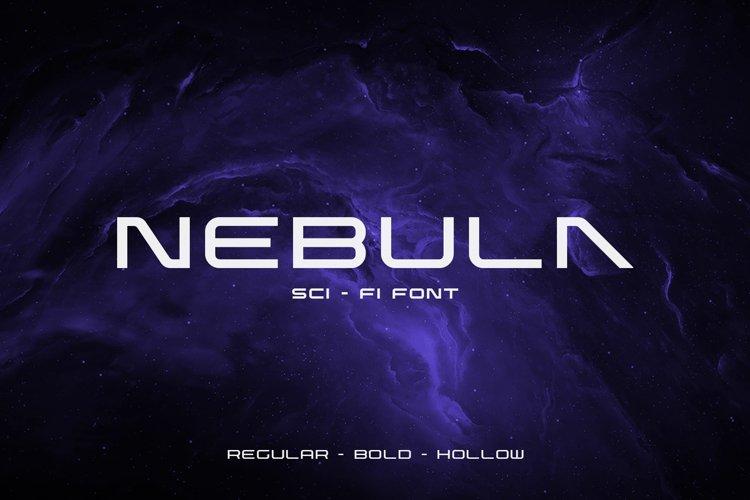 Nebula Sci-Fi Font example image 1