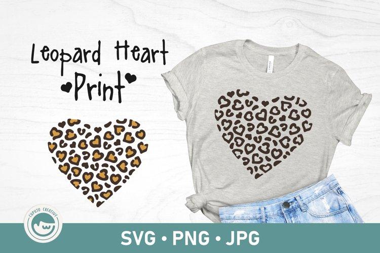 Leopard Print Heart SVG Cut File