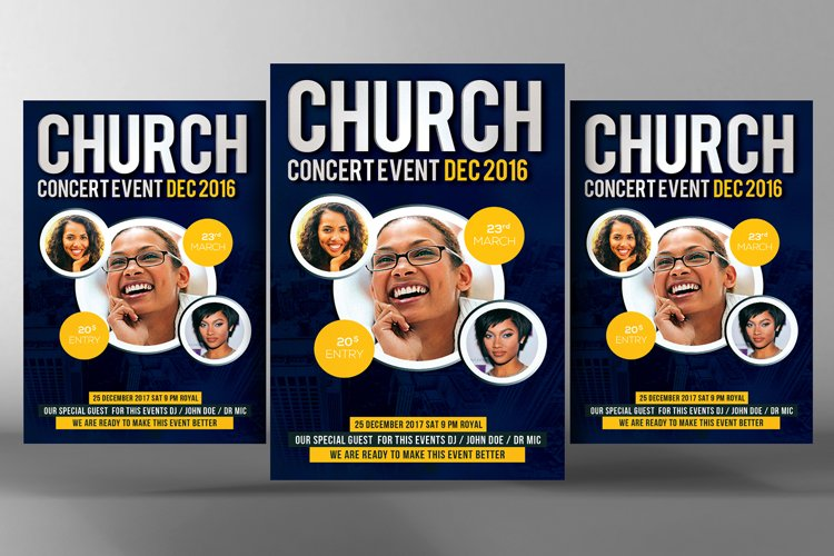 Conference Church Flyer Templates example image 1