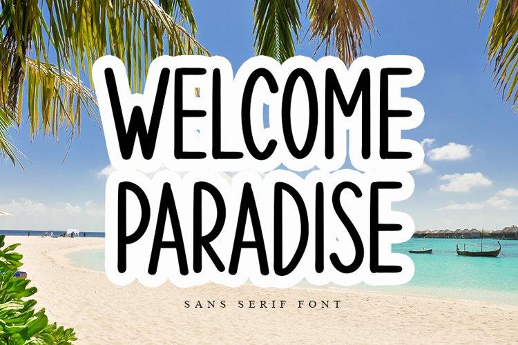 Welcome Paradise - Modern Sans Serif Font example image 1