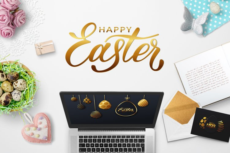 Happy Easter vector card example image 1
