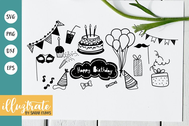 Birthday SVG Cut Files   Birthday Party Clipart   Party SVG example image 1