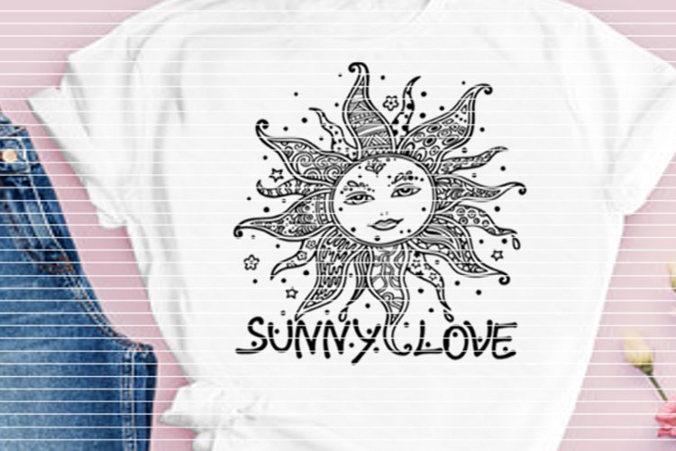 """File """"Sunny Love"""" for Cutting Lasercut Print SVG DXF PDF EPS example image 1"""