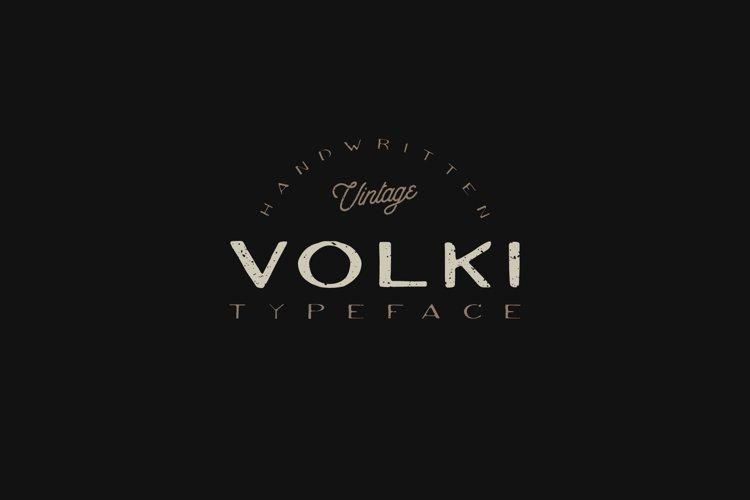 VOLKI - Handwritten Vintage Typeface example image 1