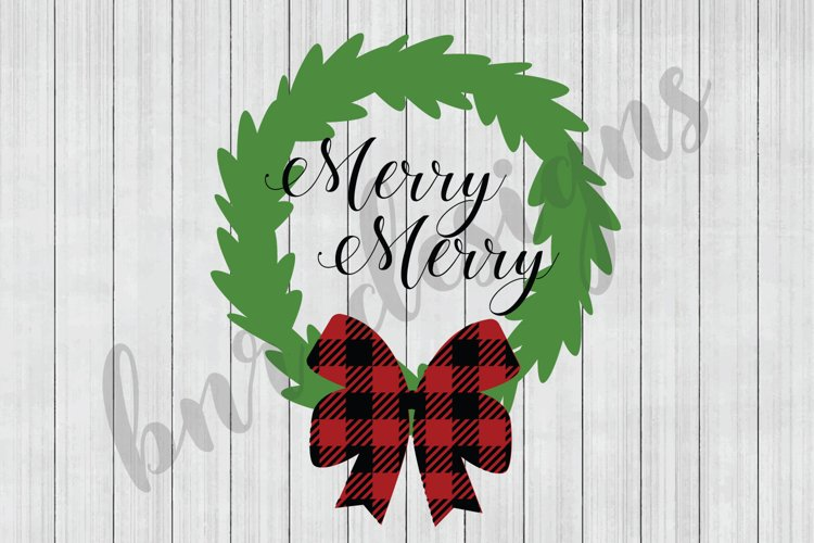 Christmas SVG,Wreath SVG, SVG Files, DXF Files example image 1